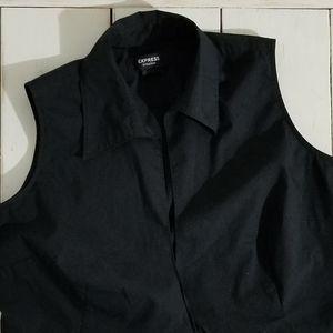 Express Tie-Waist Vest Blouse